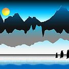 Penguins On The Move by Phil Perkins