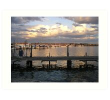 Hillarys Boat Harbour at Sunset Art Print