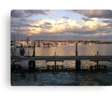 Hillarys Boat Harbour at Sunset Canvas Print