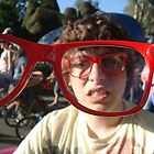 red glasses by Lindsey Huffman