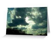 Clouds Break Sun Greeting Card