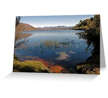 Edgar Lake & the Western Arthurs, Tasmania, I Greeting Card