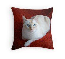 Montecore on Red Throw Pillow