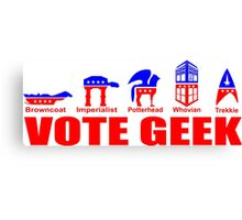 VOTE GEEK Canvas Print