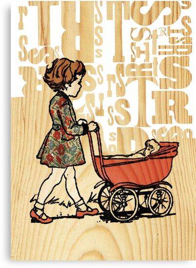 vintage pram by Narelle Craven