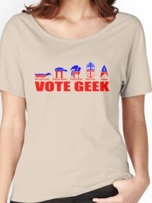 VOTE GEEK Women's Relaxed Fit T-Shirt
