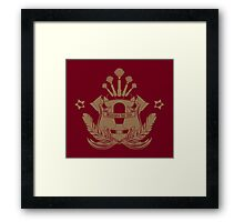Barista Crest (darkt tees and hoodies) Framed Print