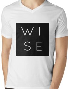Plain WISE Shirt Mens V-Neck T-Shirt