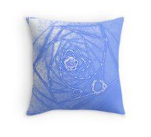 Magical Blue Fractal Depth Throw Pillow