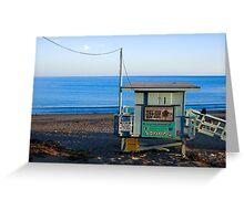 Malibu Beach Surf Shack Greeting Card