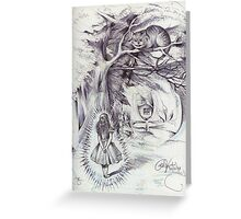 Alice Beams Into Wonderland  Greeting Card