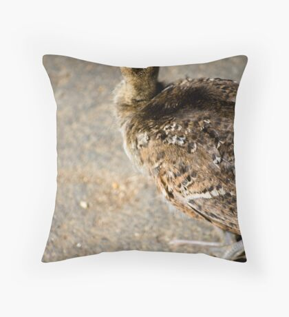 peacock chick Throw Pillow