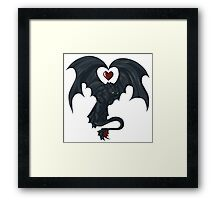 Toothless love Framed Print