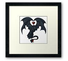 Toothless love Framed Print