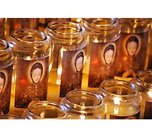 Candles for Mother Mary Photographic Print