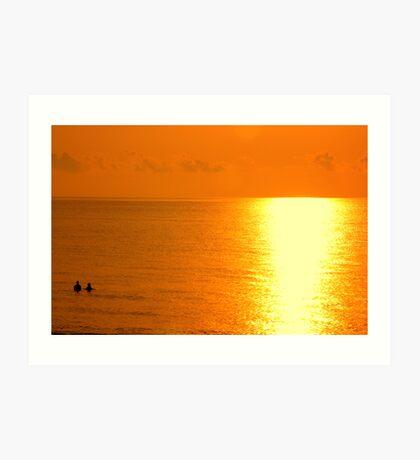 Morning Ocean Swim Art Print