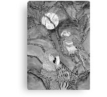 Arara Bird in Nankin ink Canvas Print
