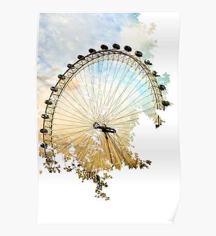 Abstract London Eye Poster