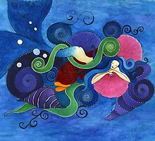 Resting Mermaid by vicki1967