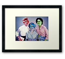 The Election Ticket Team. Framed Print