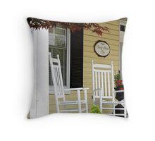 Cherry Street Inn Throw Pillow