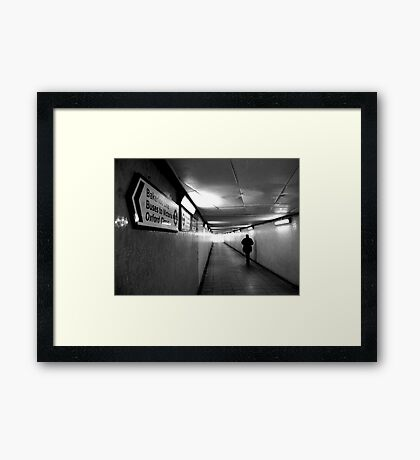 Buses to Victoria Framed Print