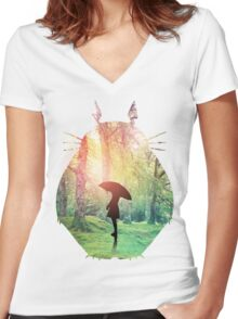 Forest of Dreams Women's Fitted V-Neck T-Shirt