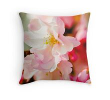 Tissue pink blossom Throw Pillow