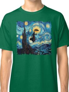 The Flying Lady with an Umbrella Oil Painting Classic T-Shirt