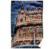 Genova - Piazza De Ferrari Poster