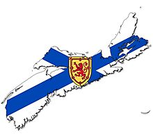 Nova Scotia Flag Map  Photographic Print