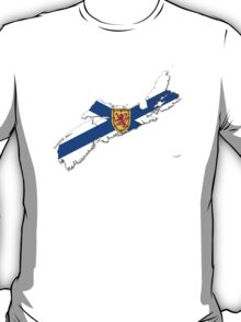 Nova Scotia Flag Map  T-Shirt