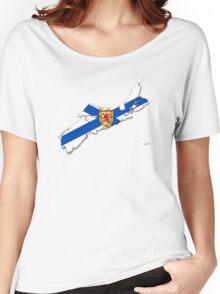Nova Scotia Flag Map  Women's Relaxed Fit T-Shirt