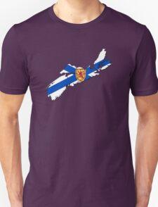 Nova Scotia Flag Map  T-Shirt