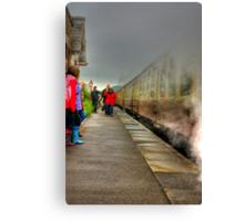 On The Platform  - Levisham Station Canvas Print