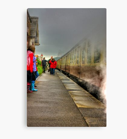 On The Platform  - Levisham Station Canvas Print