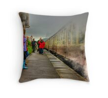 On The Platform  - Levisham Station Throw Pillow