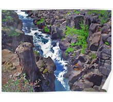 McCloud Upper Falls Channel Poster
