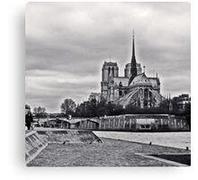 Notre Dame_bw Canvas Print