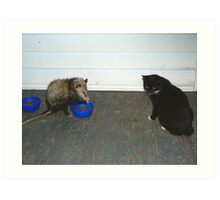 Was He Invited? Art Print