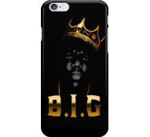 Biggie Crown [with text] iPhone Case/Skin