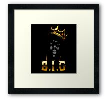 Biggie Crown [with text] Framed Print