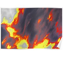 Clouds On Fire Poster