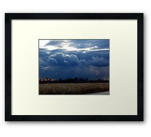 Corn Fields and Storms Framed Print