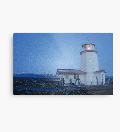 The Lighthouse - Homer, Ak Metal Print