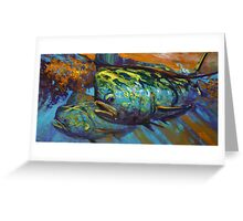 Mahi At Sunset Greeting Card