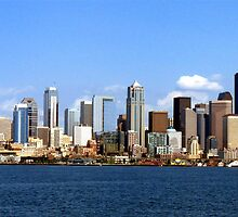 Seattle Skyline Ten by Rick Lawler