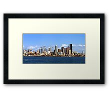 Seattle Skyline Ten Framed Print