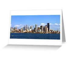 Seattle Skyline Ten Greeting Card