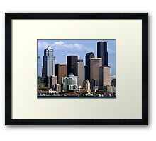 Seattle Skyline Two Framed Print